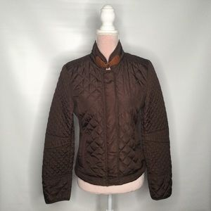 Ci Sono quilted fitted jacket.